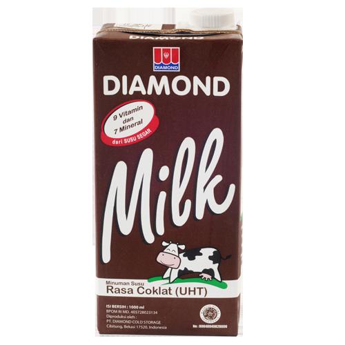 Diamond Uht Milk Full Cream 1 Lt Sukanda Djaya